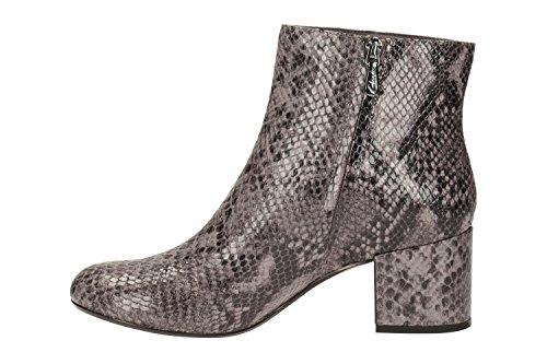 Clarks Modern-Elegant Damen Barley May Leder Stiefel In Lila