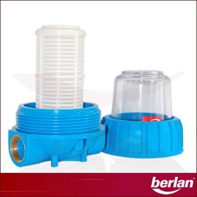 - 3000 L//h anti-sable cartouche filtrante lavable en Nylon 12,7 cm 1 filetage femelle Berlan Pr/é-filtre pour pompe BPVF-5-5