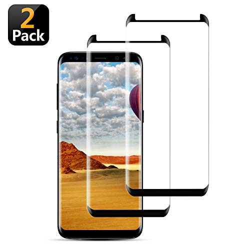 [2-Pack] Galaxy S8 Plus Screen Protector,WZS [9H Hardness][Anti-Fingerprint][Ultra-Clear][Bubble Free] Tempered Glass Screen Protector Compatible with Samsung Galaxy S8 Plus