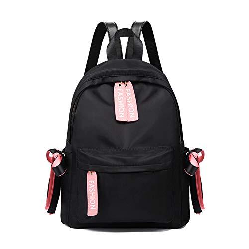 de de Bolso del hombro la Negro arco Bolso moda con el estudiante bolso de de paño Bolso Nuevo mochila de la estudiante Oxford de 2018 de v66fHq