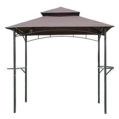 FDW 8'x 5'BBQ Grill Gazebo Barbecue Canopy BBQ Grill Tent w/Air Vent by FDW
