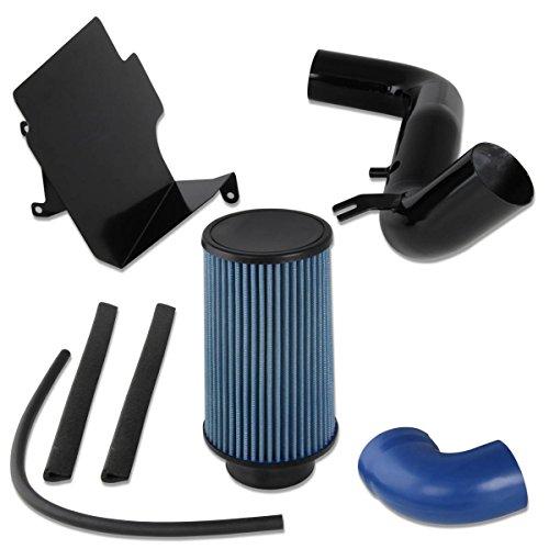 Chevy S10/GMC Sonoma 2.2L L4 Black Cold Air Intake Pipe+Heat Shield+Blue Filter
