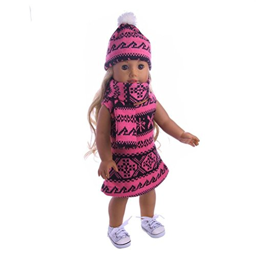 at&Scarf Three-Piece Suit For 18 Inch Our Generation American Girl Doll (A) ()
