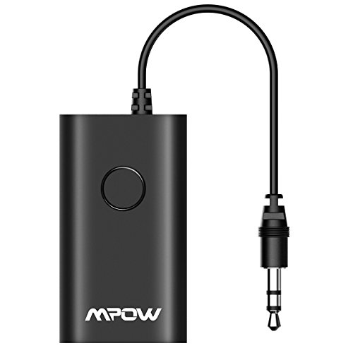 Mpow Bluetooth Transmitter, Portable Wireless Bluetooth Audio Adapter for TV, Paired with Bluetooth Headphones / Bluetooth Receivers to Listen the Sound from TV (Connected TV with 3.5mm Audio Cable) (Receiver Portable Tv)