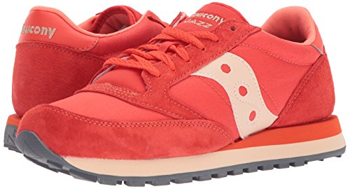 Red CL Sneakers Tan Saucony Original Uomo Jazz Windbreaker OxwYn7TZqH