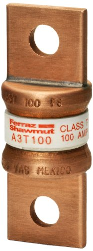Mersen A3T100 300V 100A T Fuse, 5-Pack ()