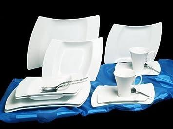 service de table noir et blanc design. Black Bedroom Furniture Sets. Home Design Ideas