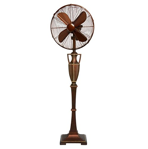 Deco Breeze DOH2945 Floor Fan, 16-Inch, Brown Leather
