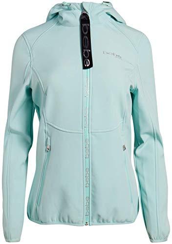 BEBE SPORT Women's Fleece Lined Soft Shell Jacket with Hood, Size X-Large, Mint/High Low' from BEBE SPORT