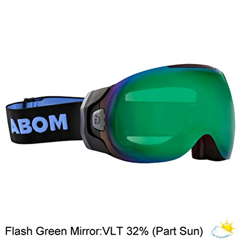 Abom One Goggles 2018 - Flash Green Mirror/Part - Zeiss Carl Goggles