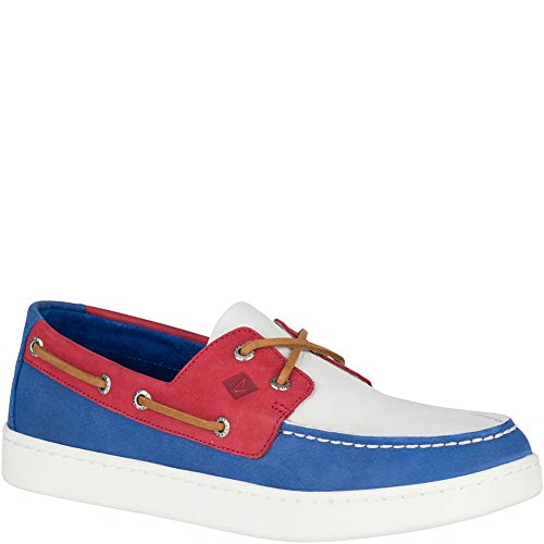 Sperry Top-Sider Sperry Cup Boat Shoe Men 7 Red, White, Blue (Best Way To Tie Sperrys)