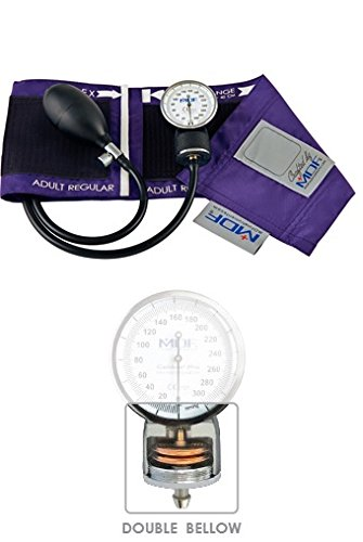MDF Calibra Pro Aneroid Sphygmomanometer - Professional Blood Pressure Monitor with Adult Sized Cuff Included - Purple - Full & Free-Parts-For-Life (MDF808B-08) Aneroid Sphygmomanometer Adult Latex