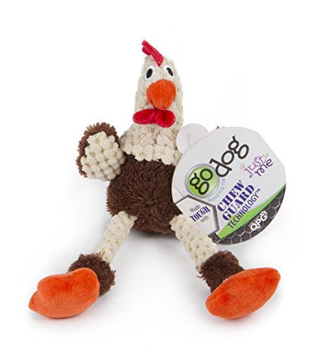 goDog 70671 Just for Me Skinny Brown Rooster Plush Squeaker