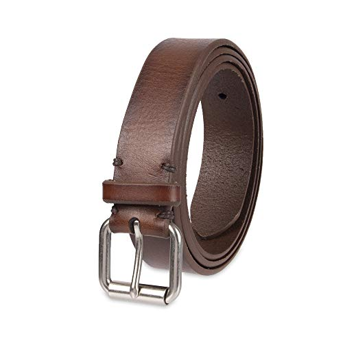 Dockers Men's Casual Leather Belt - 100% Soft Top Grain Genuine Leather Strap with Classic Prong Buckle, Tan, Xlarge