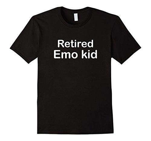 Mens Retired emo kid T Shirt everyday  emo emo shirt cute funny Medium (Emo Kid T-shirt)