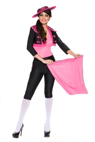 Delicious Miss Matador Costume, Black/Pink, Large