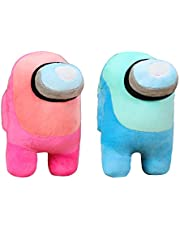 Among Us Plush | 2 Pack |Blue + Pink 7.8inch/20cm Stuff Animal Plushies Toys,Cute Soft Plush Among Us Plush Stuffed Animals Among Us Game Plush Toy Plushie Doll Gifts for Kids Birthday Christmas Xmas Gift (2 Pack blue + pink)