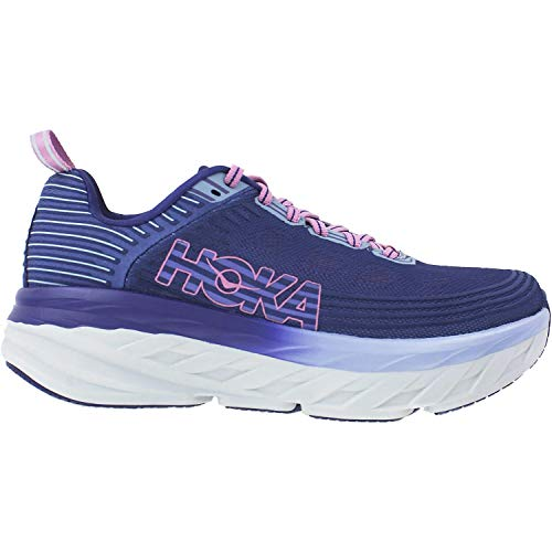 HOKA ONE ONE Womens Bondi 6 Marlin/Blue Ribbon Running Shoe - 8.5 from HOKA ONE ONE