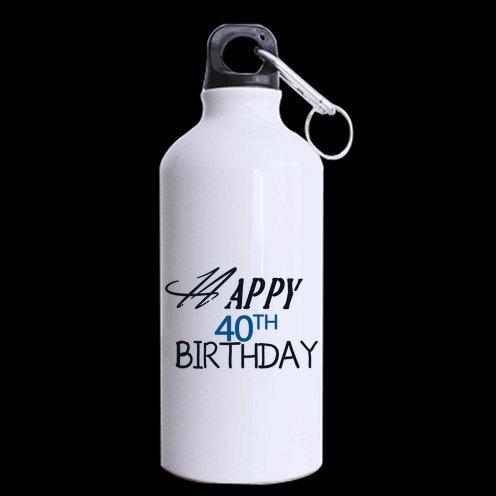 母の/父ギフト誕生日Presentsユーモア引用符Happy 40th Birthday 100 % super-strongアルミ13.5 Ozスポーツボトル B00YOR7KM6