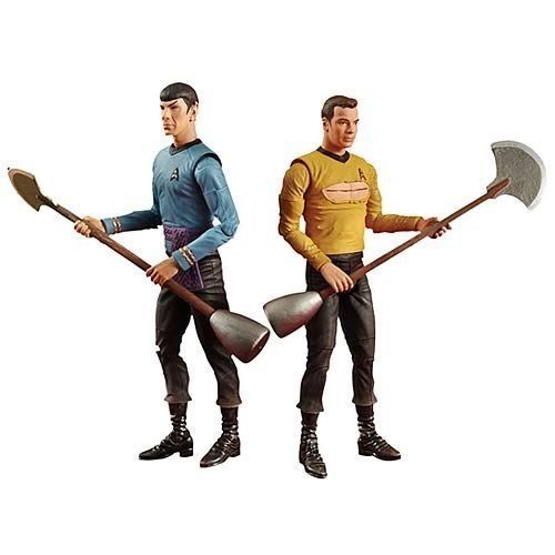 DIAMOND SELECT TOYS Star Trek: Amok Time: Spock and Kirk Two-Pack Action Figure Set