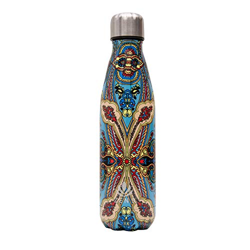 Zen 5 Water Bottle 17 oz. Keeps Drink HOT or Cold for 24 Hours - Available in New York Designs, and Metallic and Matte Finishes (Zen, 1 Pack)