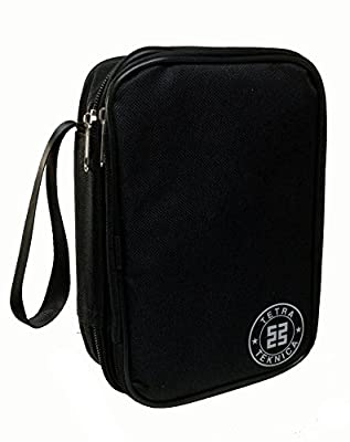 Tetra-Teknica Essentials Series MCH-01 Double-Layered & Padded Carrying Zipper Case with Wrist Strap for Handheld Multimeter, Color Black