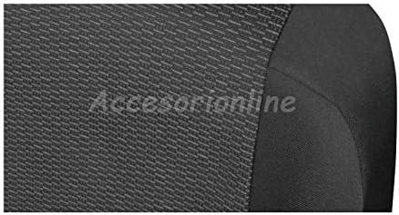 Accesorionline Fundas de Asiento 3plazas para Citroen Jumper Conductor m/ás copiloto Tela M/áxima Calidad