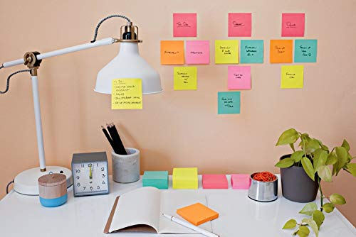 Post-it Super Sticky Notes, Bright Neons, Sticks and Resticks, Great for Reminders, 3 in. x 3 in, 68 Pads/Pack, (654-24SSMIA-CP) (68 Pads) by Post-it (Image #3)