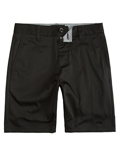 Mens Shorts Crown (Blue Crown Slim Stretch Chino Shorts, Black, 32)