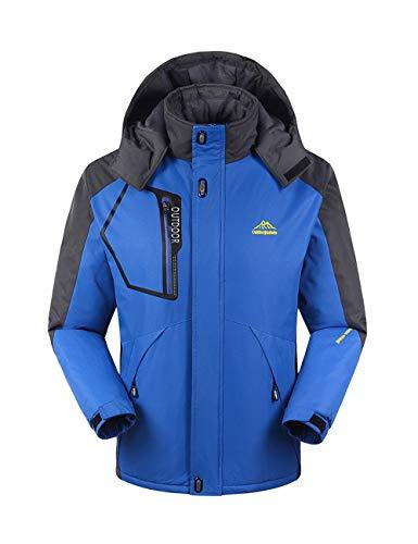 Uomo Jacket Blu Snowboard Cappuccio Giacche Snowproof Leggero Outdoor Donna Antistatico Per Warm Impermeabile Wear Antivento Trapuntato Con Besbomig Mountain nvxpOCwWE