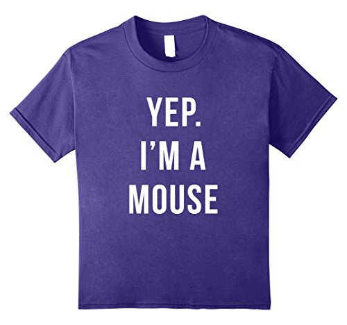 Kids Yep I'm A Mouse DIY Funny Halloween Costume T-Shirt 8 Purple - Diy Halloween Costumes For Kids
