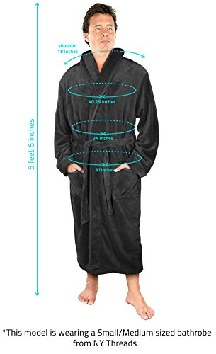 f56bd1e528 Jual NY Threads Luxurious Men s Shawl Collar Fleece Bathrobe Spa ...