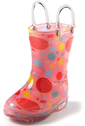 (Puddle Play Rain Boots Girls Bubble Polka Dots - Size 12 Little Kid)