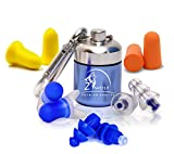 Zwolf Comfortable Ear Plugs Reusable Noise Cancelling for Sleeping - High Fidelity Earplugs for Concerts Musicians Motorcycles and More -Hearing Protection Set (Mix)