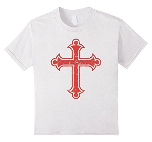 Kids Crusader Cross | Renaissance Festival T-Shirt 12 White