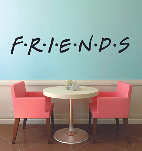 FRIENDS TV Show Series Logo Wall Stickers Television Quote Joey Rachel Decor Design for Boys/Girls Bedroom Entertainment Fans Rooms Home Art Murals Decals Wall Art Vinyl Decoration Size (18x30 inch)