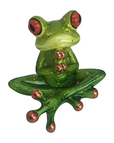 Meditating Frog Figurine - Eyeglass - Eyeglasses Muse