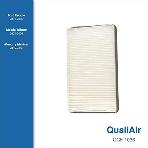 QualiAir QCF-1036, Cabin Air Filter for Ford, Mazda, Mercury (1Pack)
