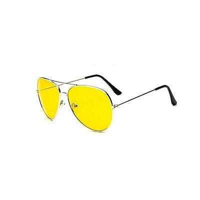 e48537b58e3877 KGM Cool Style aviateur Verres jaunes Lunettes de soleil UV 400 ...