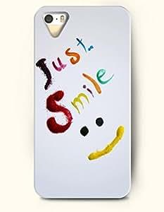 iPhone 4 / 4s Case Just Smile - Cartoon - Hard Back Plastic Case - OOFIT Authentic