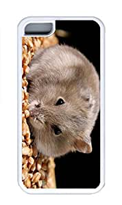 iPhone 5C Case, Personalized Custom Rubber TPU White Case for iphone 5C - Hanster Nut Cover
