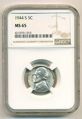 1944 S Jefferson Silver Nickel MS65 NGC