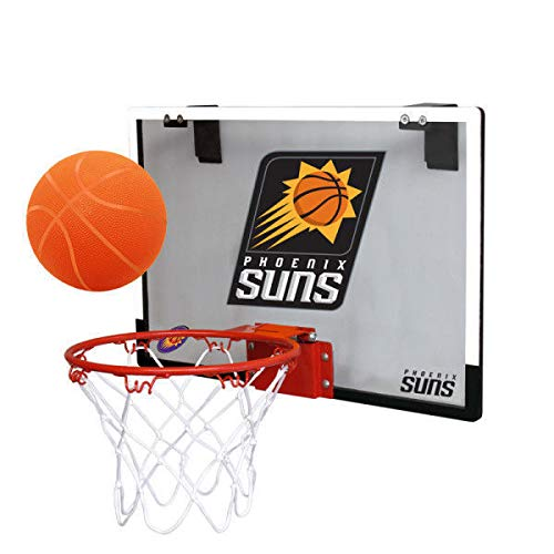 (NBA Phoenix Suns Game On Indoor Basketball Hoop & Ball Set, Large, Purple)