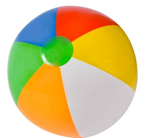 20'' MULTICOLORED BEACHBALL, Case of 144 by DollarItemDirect