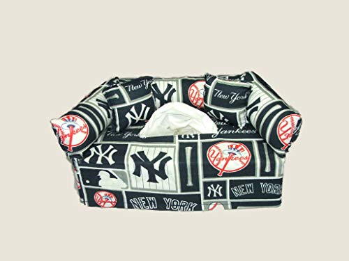 New York Yankees MLB Licensed fabric tissue box cover. Includes Tissue (Mlb Paper Toilet)