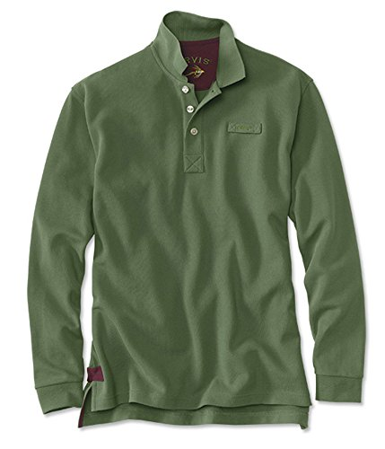 mens-the-long-sleeved-orvis-signature-polo-regular-forest-green-large