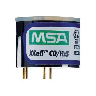 MSA Replacement Duo-Tox (Hydrogen Sulphide And Carbon Monoxide) Sensor With Alarms @ 10/1700 PPM For Use With ALTAIR 4X/5X Multi-Gas Detector