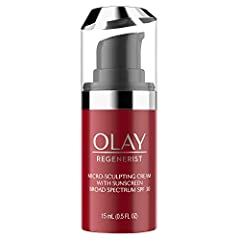 Trial SIze Olay Regenerist Micro-Sculpting Cream with lightweight broad spectrum SPF 30 is a powerful anti aging moisturizer as well as a lightweight SPF, formulated with Amino-Peptides and Niacinamide (Vitamin B3), hydrates to plump and firm...