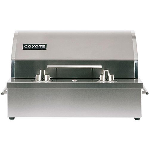 "Price comparison product image Coyote C1EL120SM 19"" Electric Grill with 156 sq. in. Cooking Area 5000 Hour Heating Element 304 Stainless Steel Teflon Coated Cooking Surface Ceramic Flavorizer and Removable Frame"