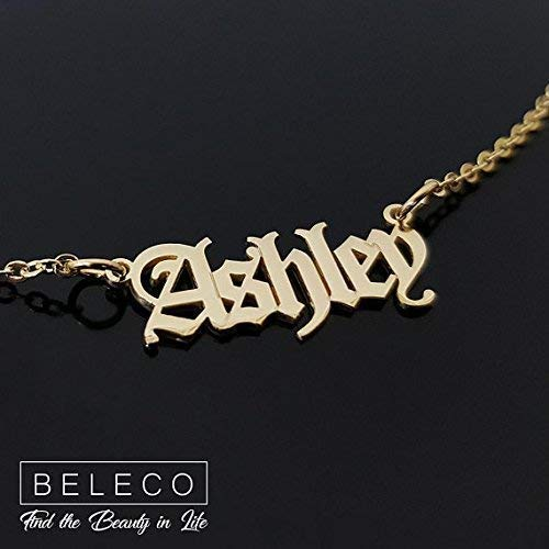 5348c66af Image Unavailable. Image not available for. Color: Old English Name Necklace  ...
